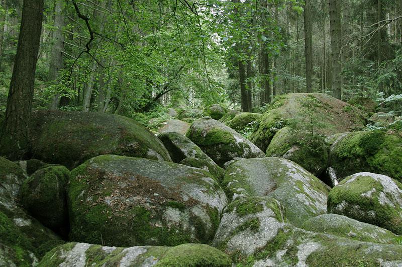 Fluss aus Granit