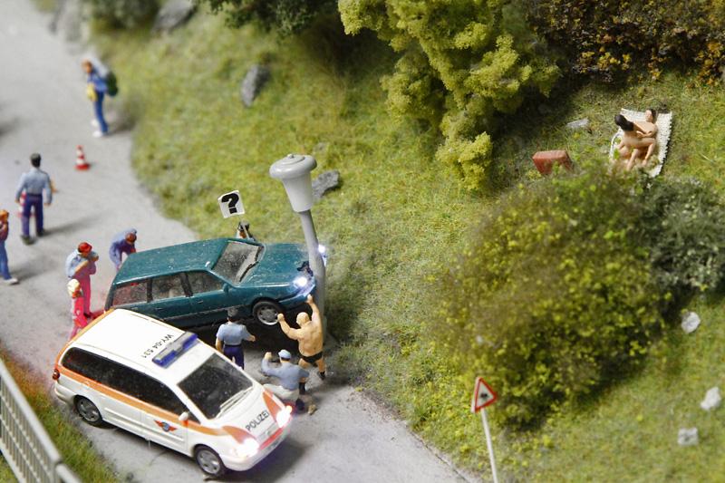Unfall in Klein