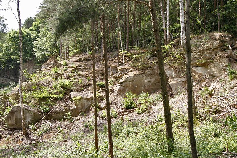Sandsteinbruch bei Bad Königshofen