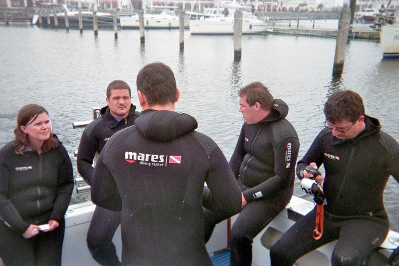 Das Team an Bord